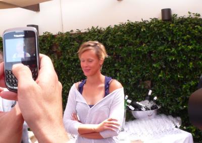 Federica Pellegrini fotografata dai giornalisti