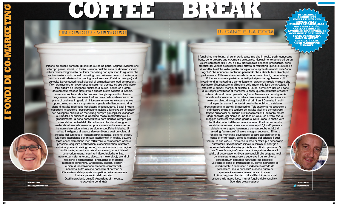 Coffee Break – I fondi di co-marketing