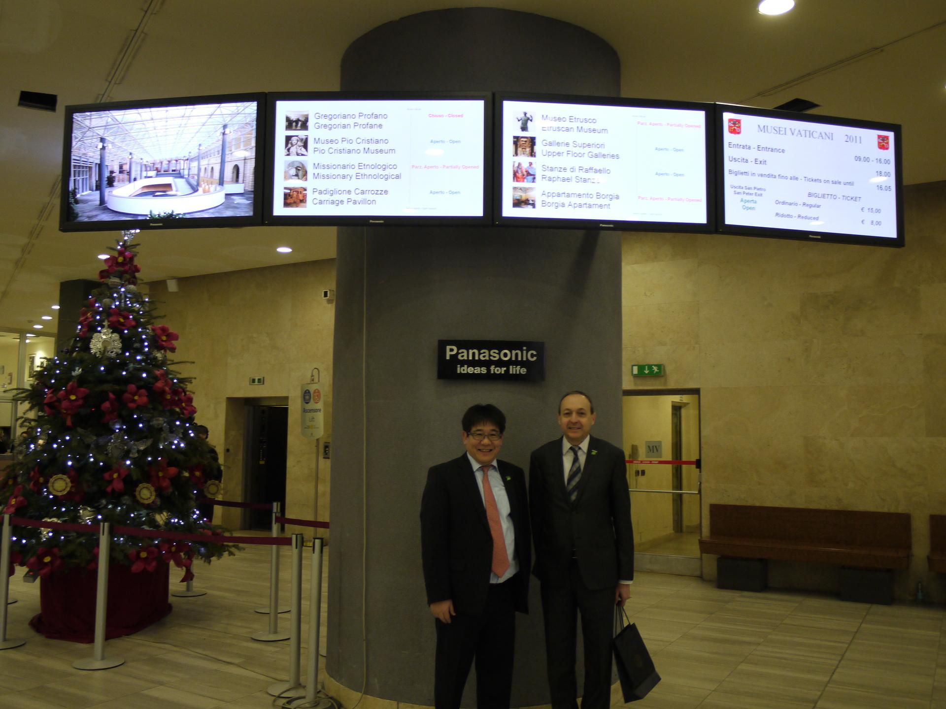 Panasonic protagonista dei Musei Vaticani con il Digital Signage