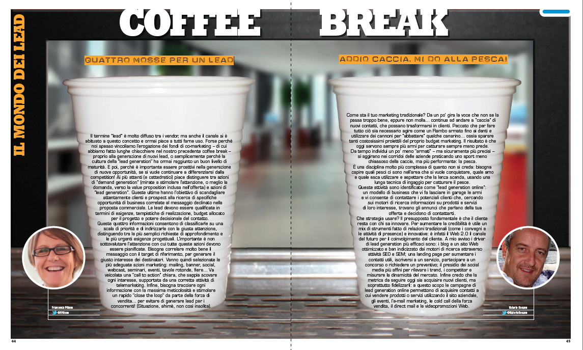Coffee Break – Il mondo dei Lead