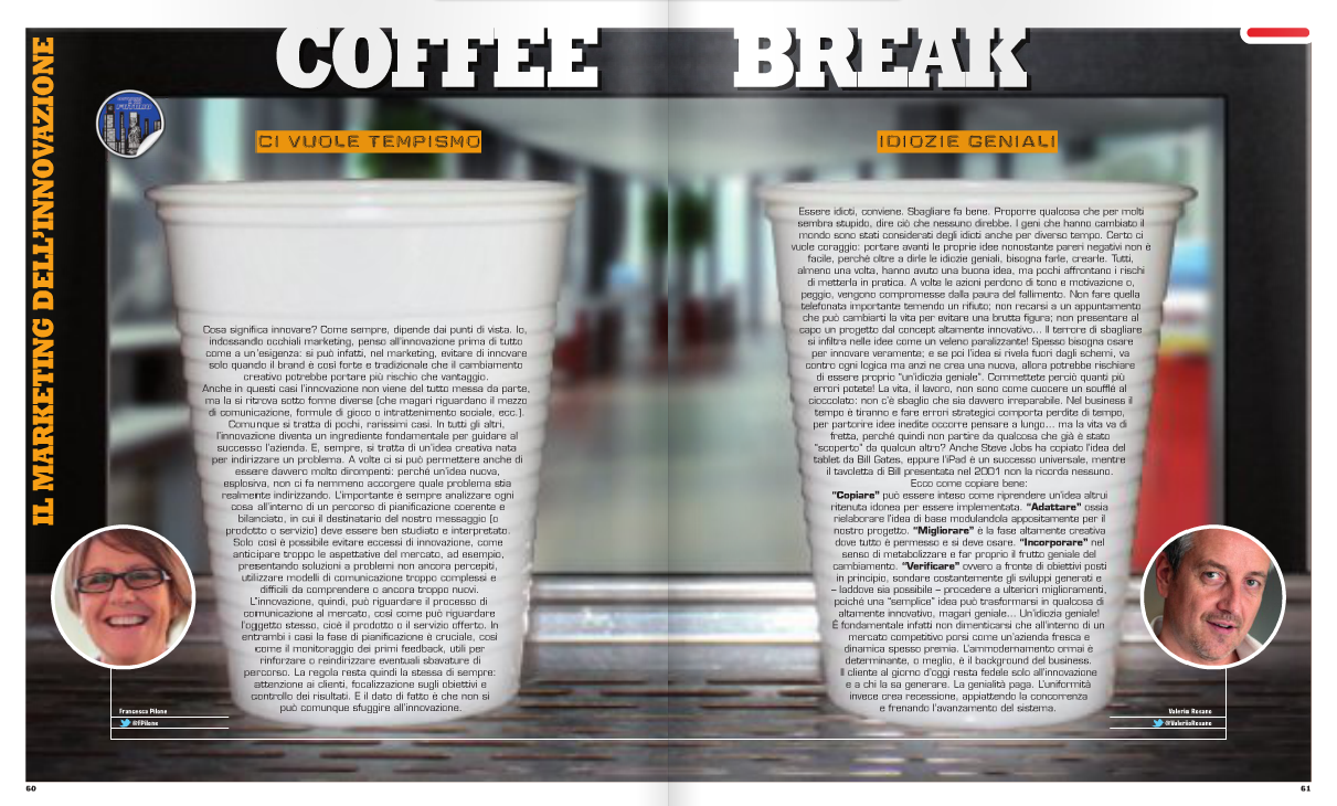 Coffee Break – Il marketing dell'innovazione