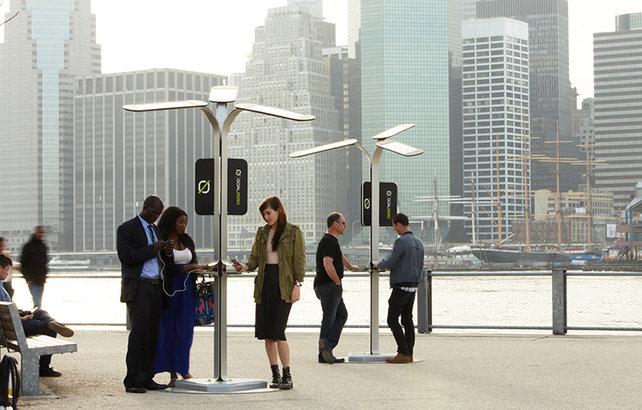 Ricariche solari gratis a NYC