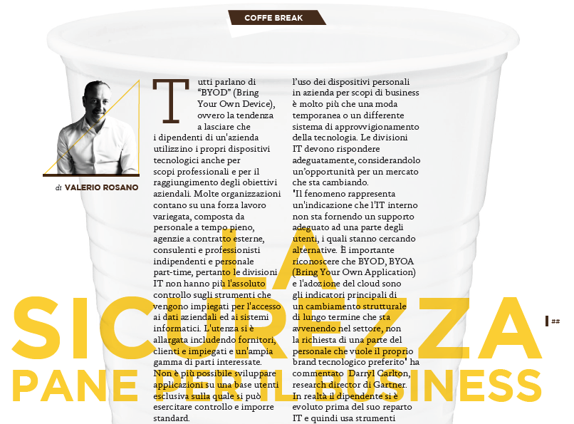 Coffee Break – La sicurezza, pane per il business