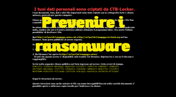 Prevenire CTB-Locker