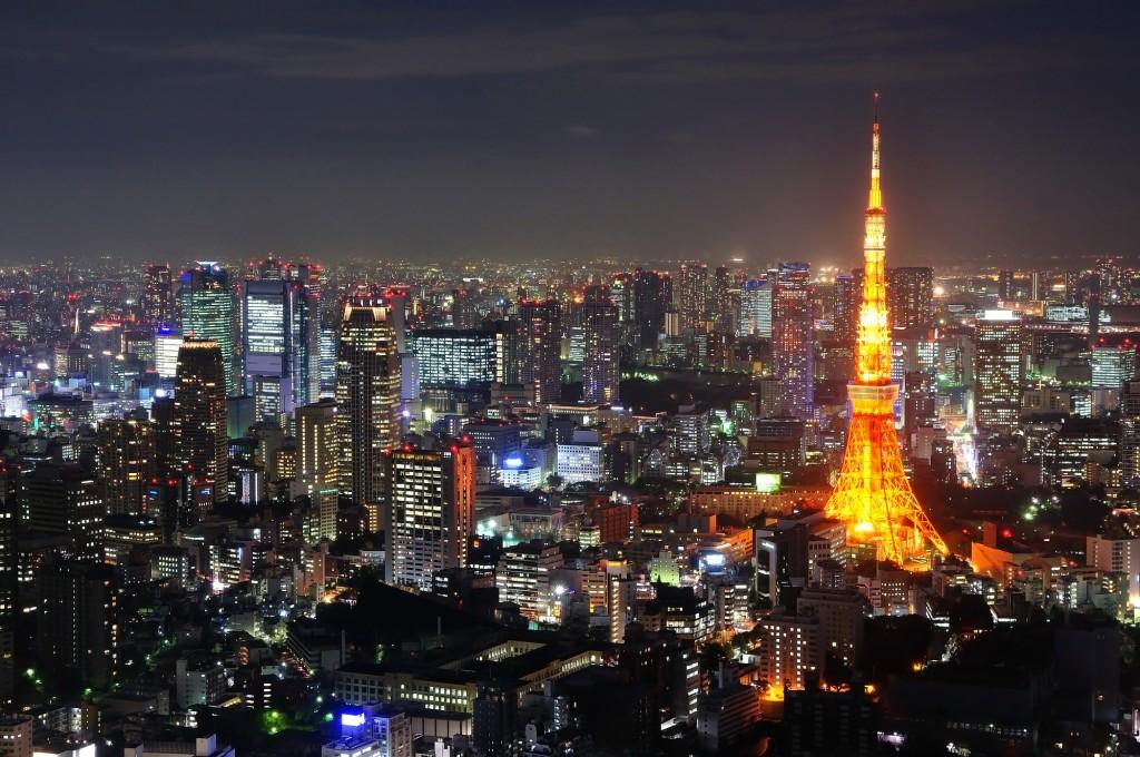 Tokyo startup - tower night