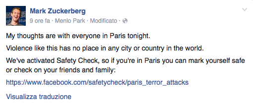 Parigi Mark Zuckerberg