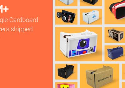 Google Cardboard 5 milioni di fan