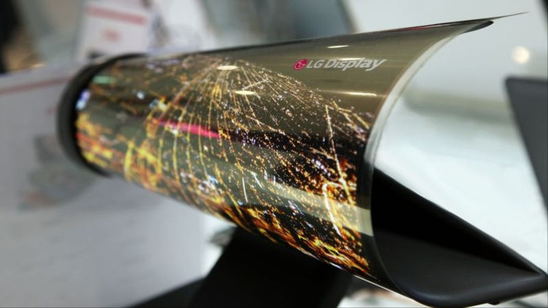 LG Oled display rollable