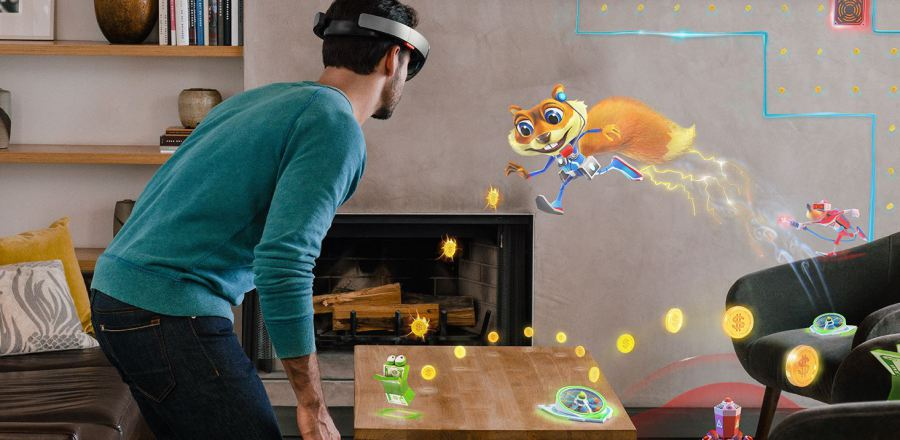 Microsoft Hololens gaming Conker realtà virtuale