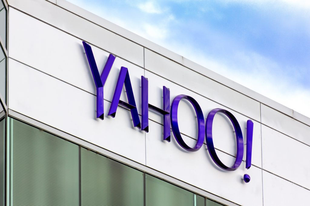 Yahoo Corporate Headquarters Sign