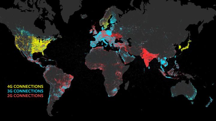 Facebook connessione internet nel mondo