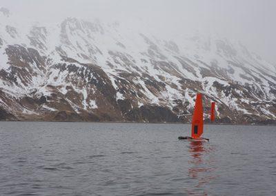 Launching saildrone in Dutch Harbor AK ©Saildrone Inc. 2015