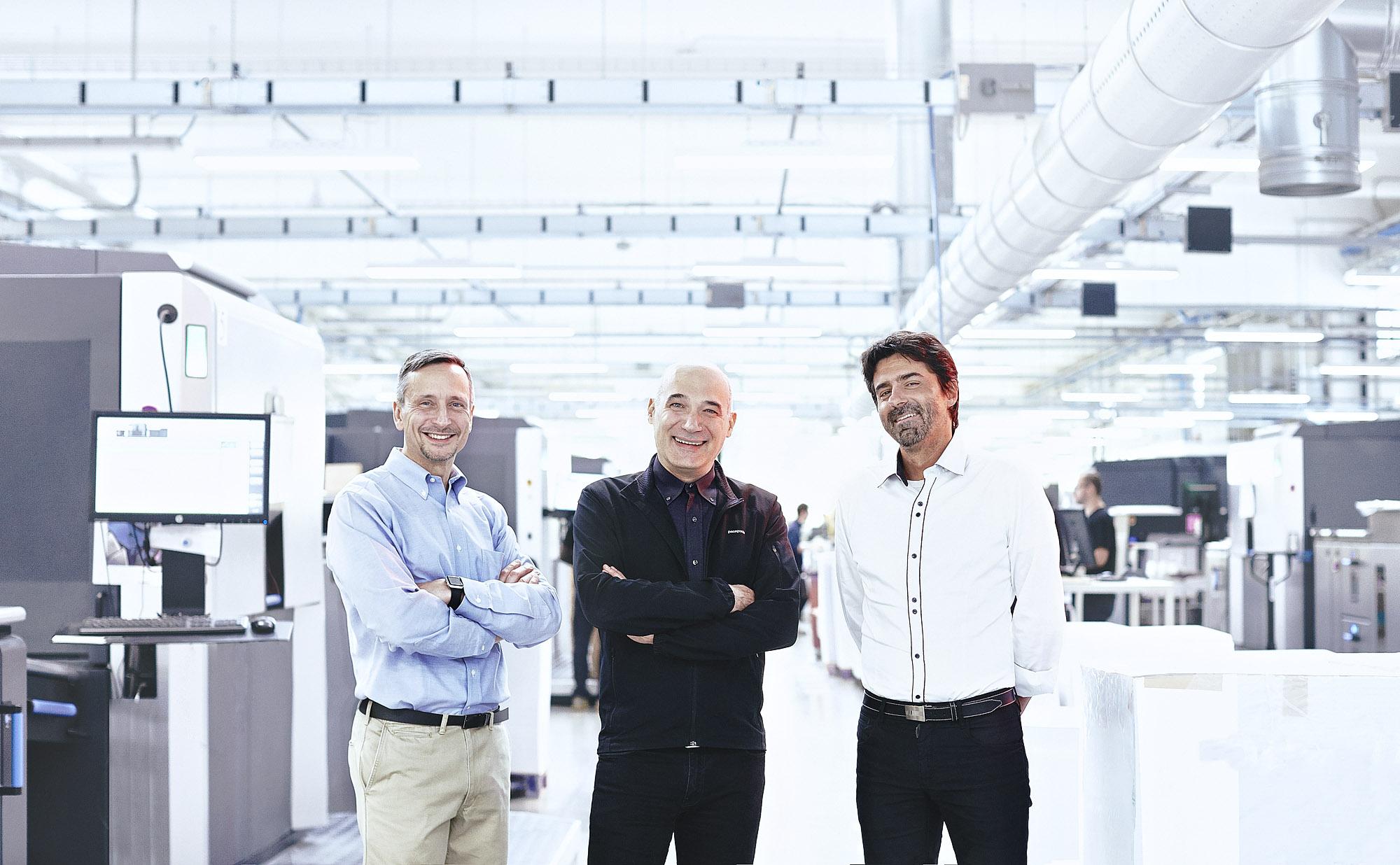 Il nuovo CdA di Pixartprinting: da sinistra P.Roatta, A.Tenderini, A.Piazzetta