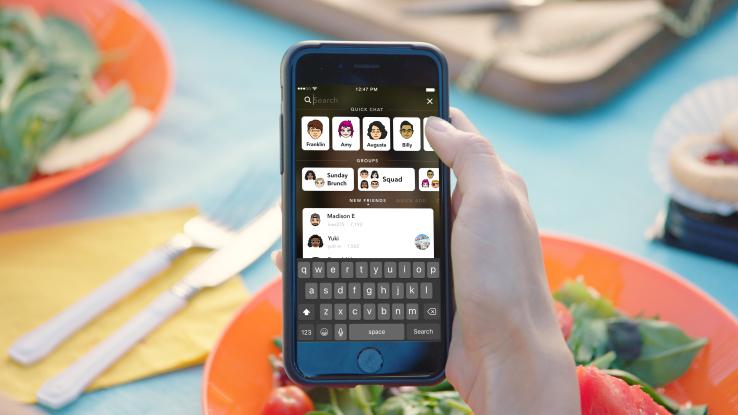 nuovo design quotazione snapchat