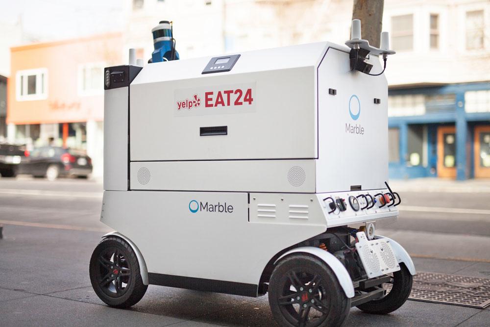 Yelp consegnerà il cibo a domicilio con un robot