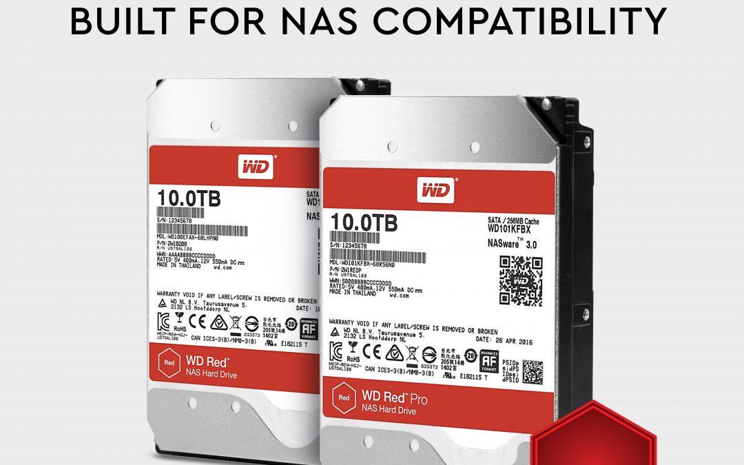 Western Digital: più capacità di memoria per i Nas WD Red e WD Pro