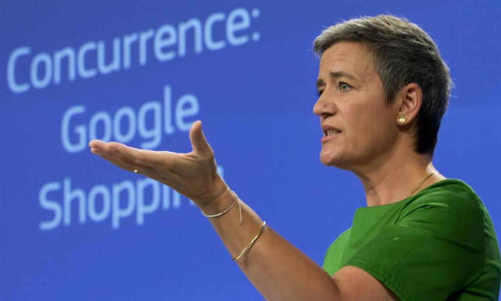 Google Multa Margrethe Vestager shopping