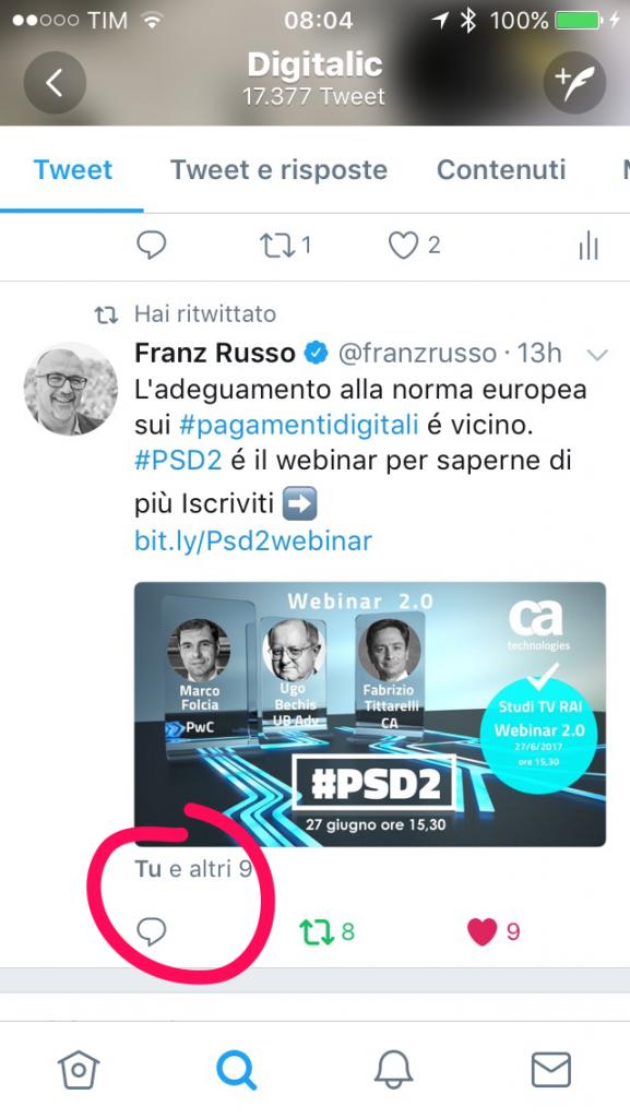 Nuovo design Twitter - Risposte