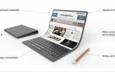 Lenovo lascia tutti a bocca aperta con il suo laptop pieghevole