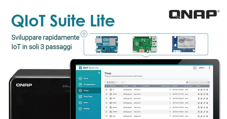 QIoT Suite Lite, la soluzione cloud IoT privata di QNAP