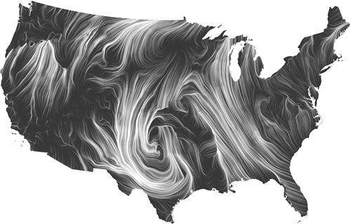arte big data mappa del vento