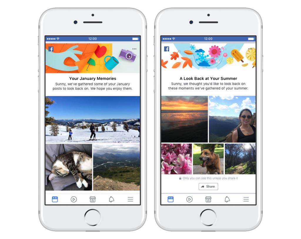 Ricapitolare i ricordi Facebook