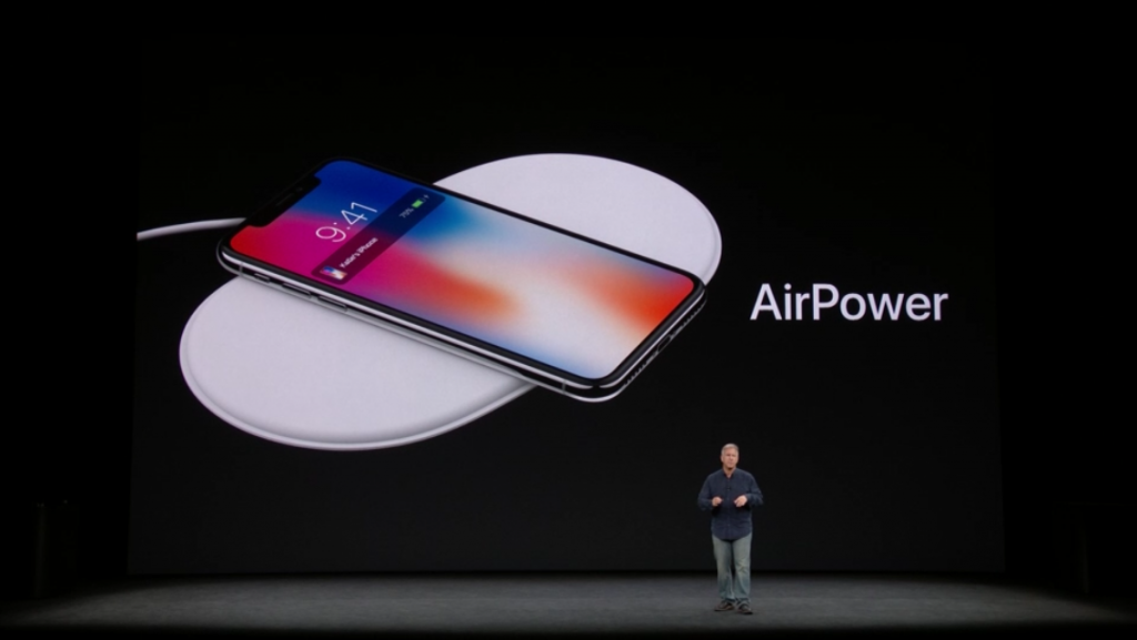 iPhone X Ricarica Wireless apple keynote