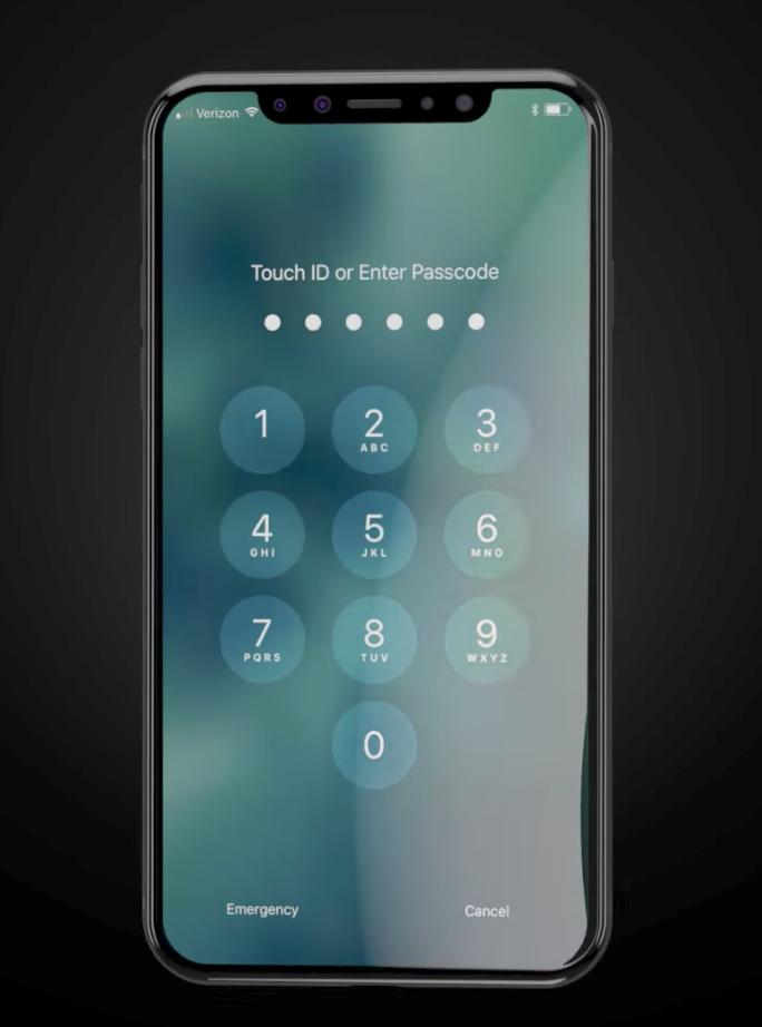 iPhone X schermata
