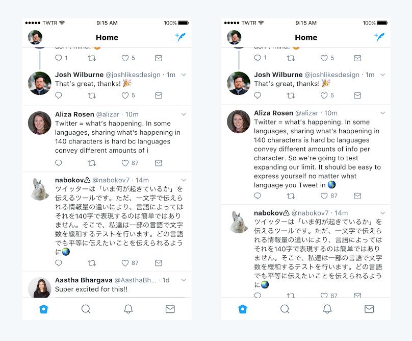I 140 caratteri Twitter superati: ora raddoppia il testo a 280 caratteri