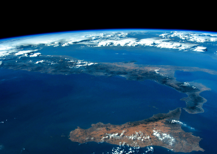 Come è bella l'Italia fotografata dall'astronauta Paolo Nespoli