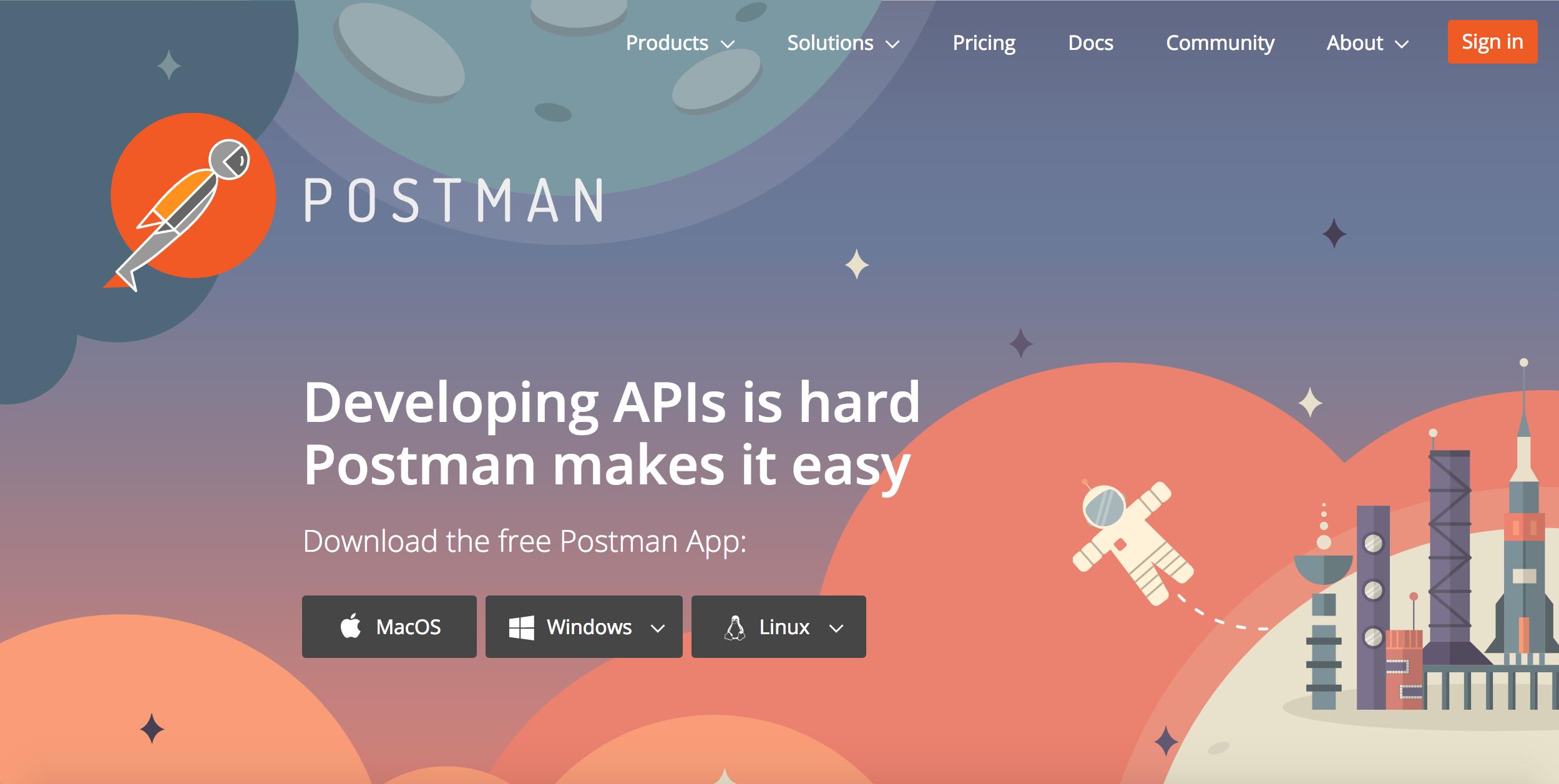 Startup più innovative nel software 2018: Postman