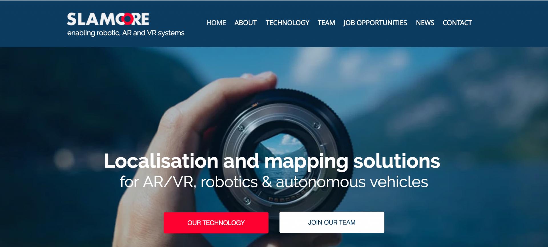 Startup più innovative nel software per il 2018: Slamcore