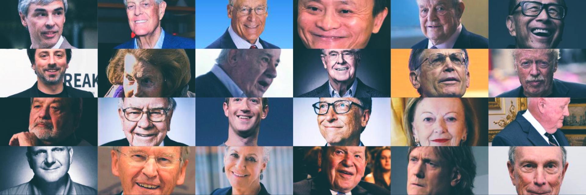Le persone più ricche del mondo : in alto grazie alla tecnologia