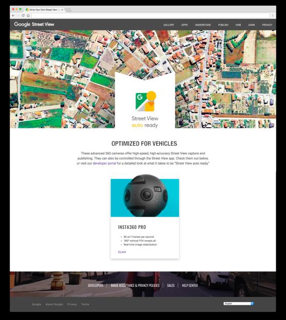 Insta360 Pro Google Street View