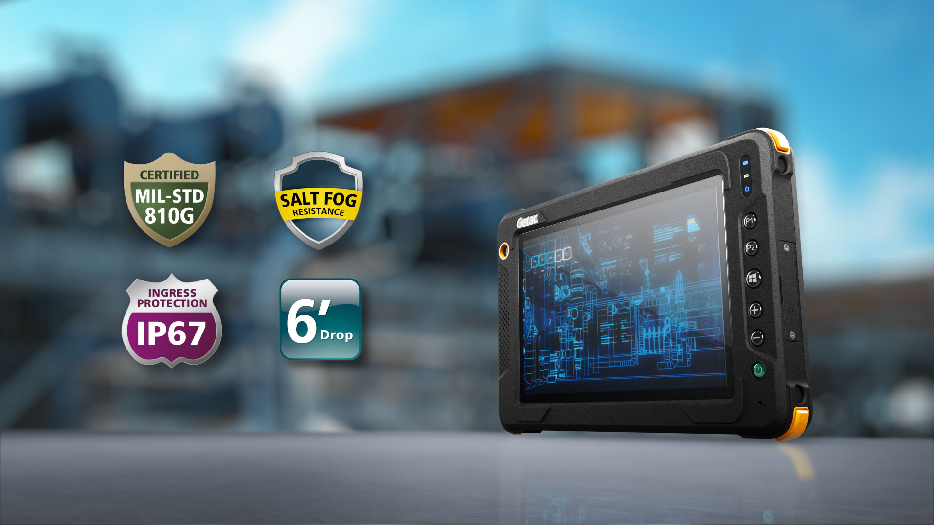 Getac EX80 il tablet Fully Rugged intrinsecamente sicuro