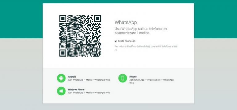 Schermata iniziale WhatsApp Web