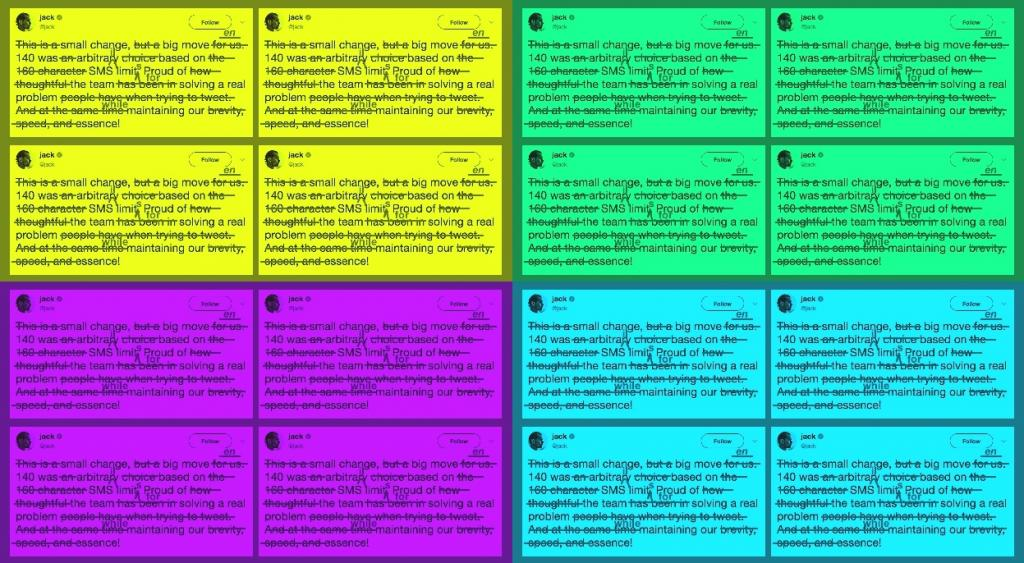 Ufficiale Twitter 280 caratteri per tutti