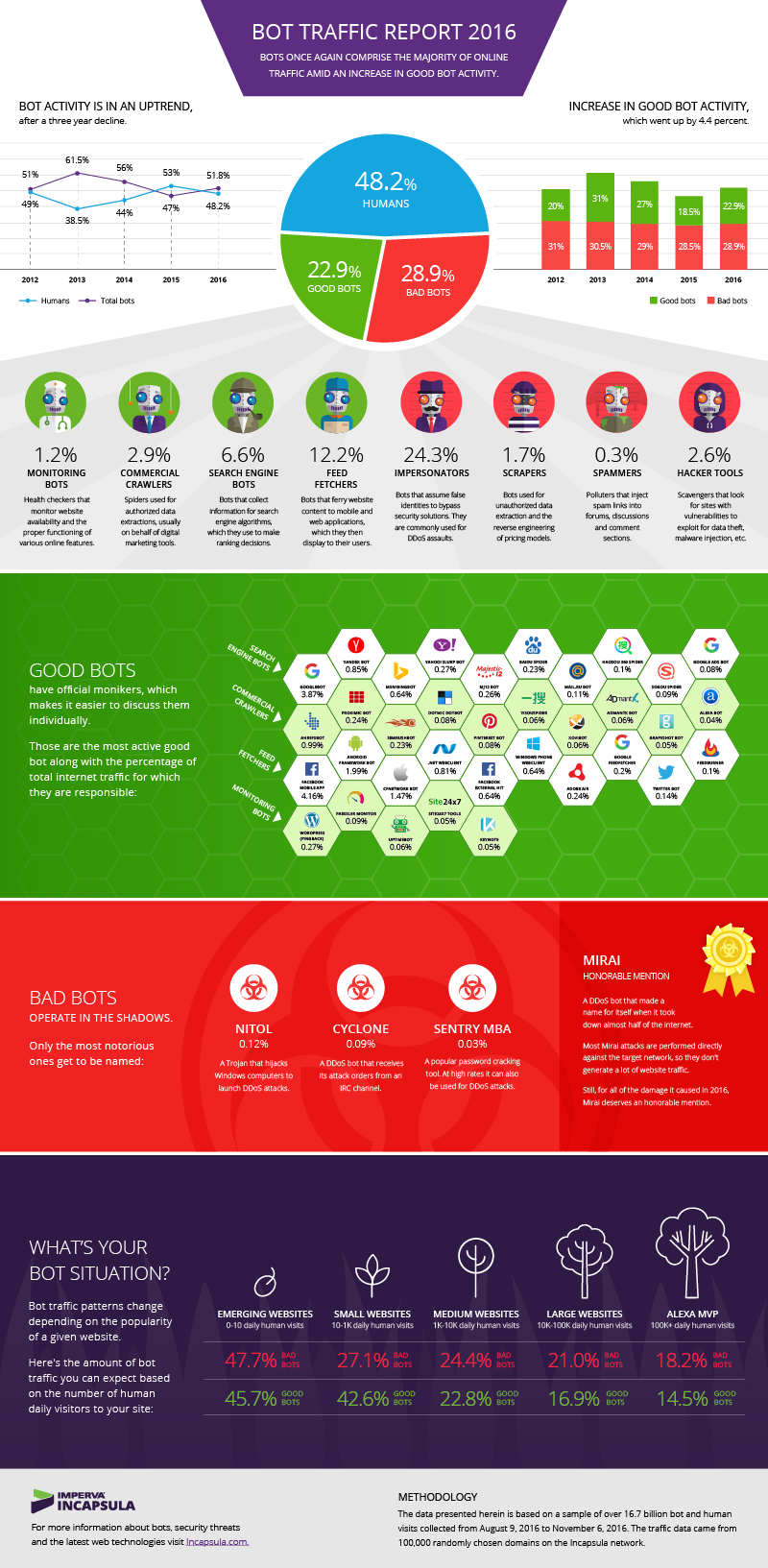 bot internet traffico infografica