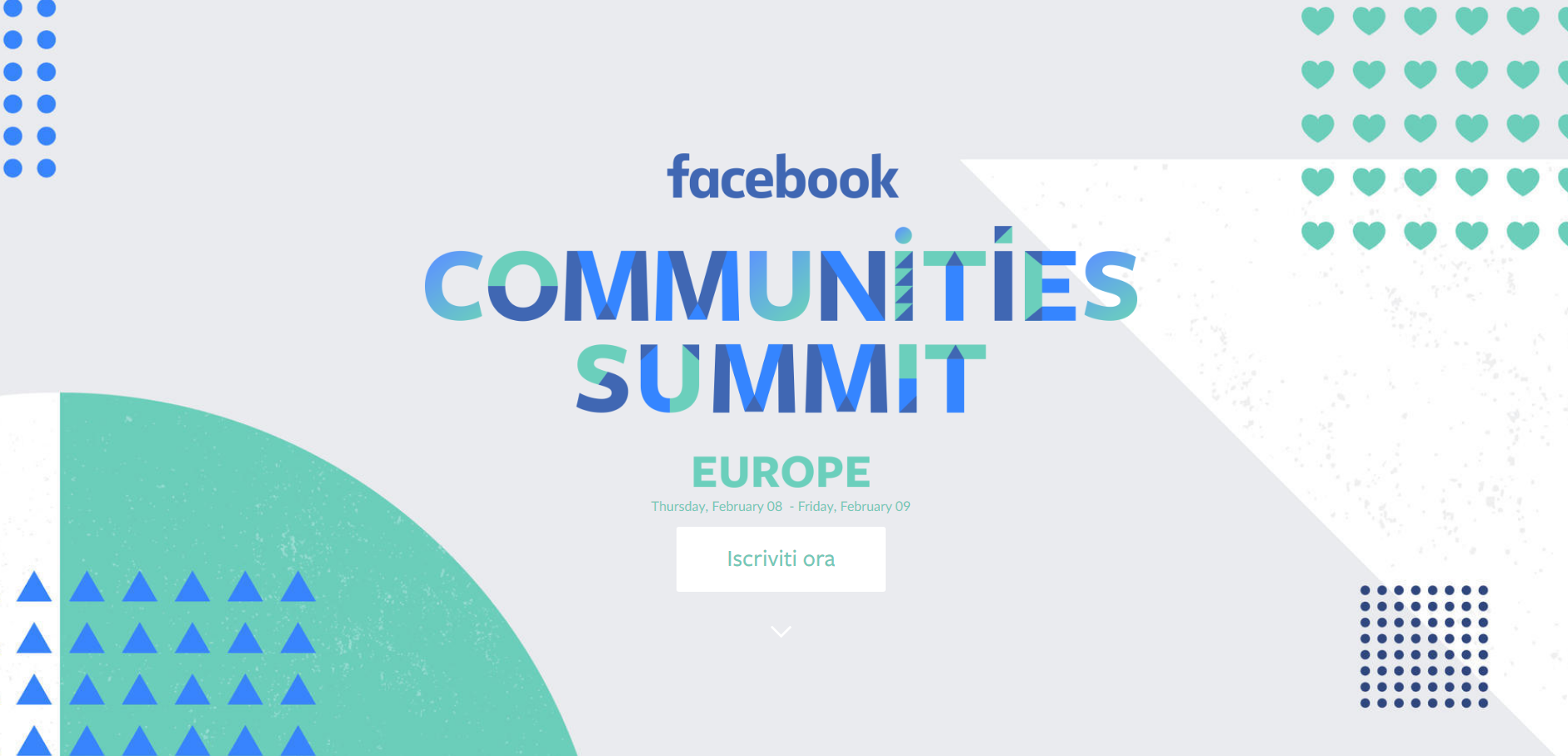 Facebook Communities Summit 2018 in Europa, celebra le comunità