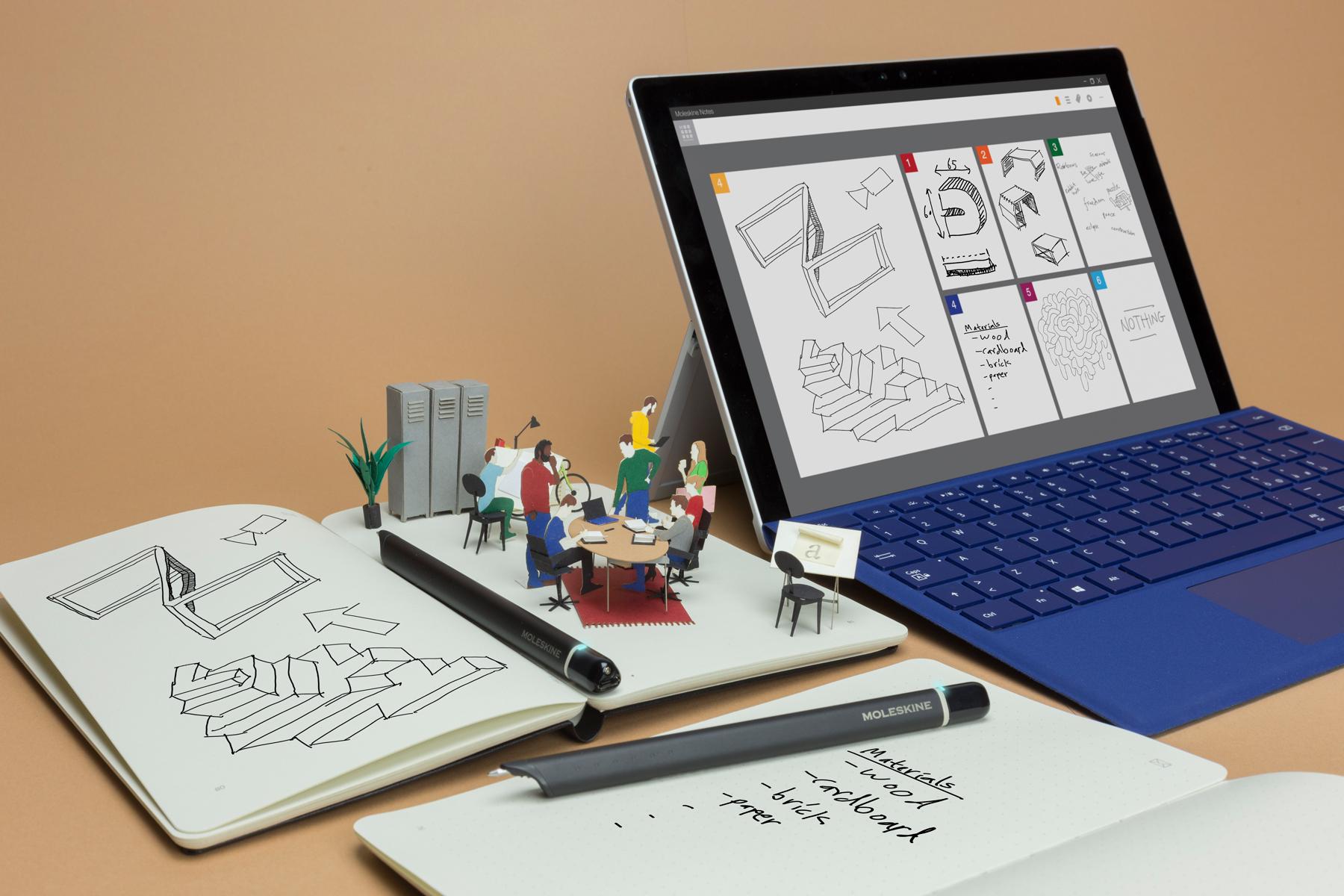 Come funziona lo smart notebook Moleskine con Microsoft Win 10