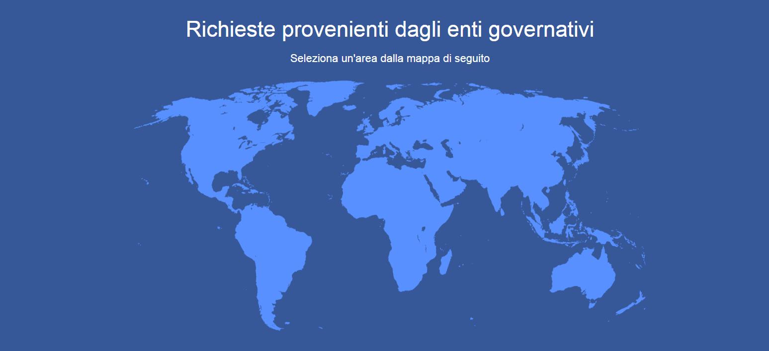 I governi chiedono sempre più a Facebook i dati  degli utenti