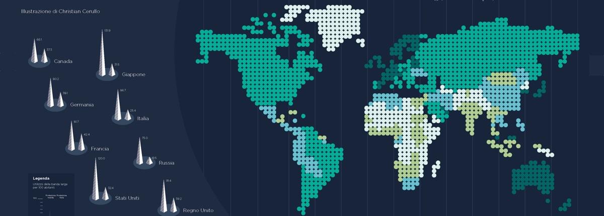 Diffusione Internet: Metà della popolazione mondiale è senza Rete
