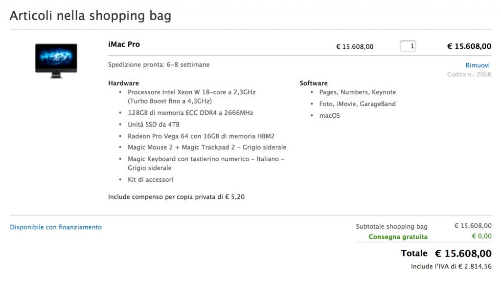Apple: l'iMac Pro in arrivo sul mercato nel giro di pochi giorni