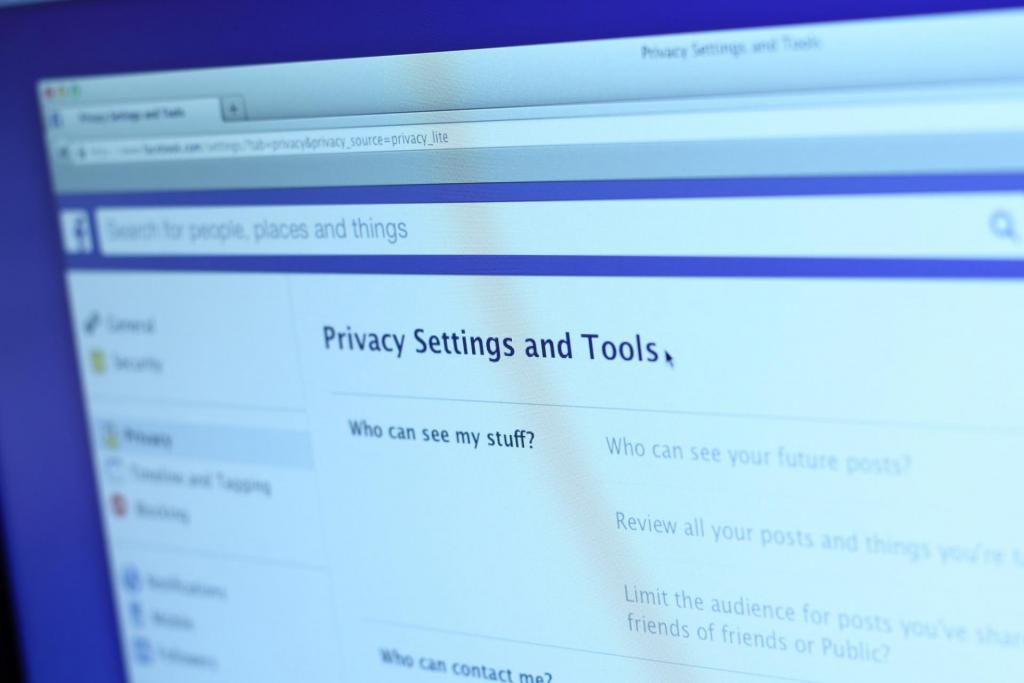 Facebook Privacy Center impostazioni