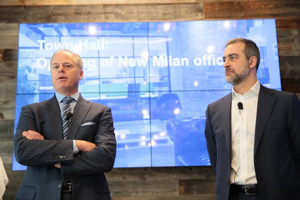 Mike Gregoire, Ceo di CA Technologies e Michele Lamartina, Country Manager per l'Italia