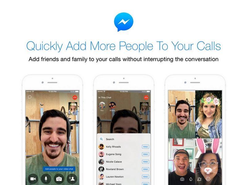 Chiamate di gruppo su Messenger