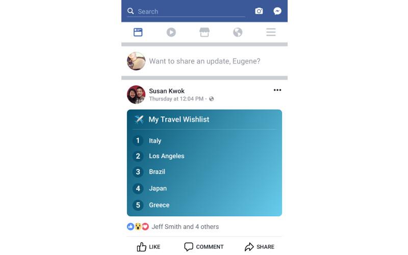 Liste di Facebook