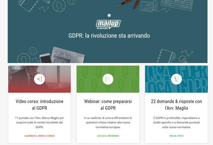 MailUp lancia il primo hub di contenuti dedicati al GDPR