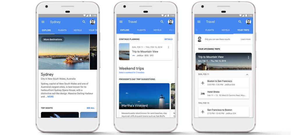 google pianificazione viaggi