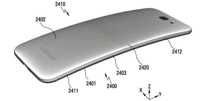 samsung galaxy x patent